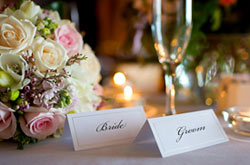 Bride and Groom Cards Wedding Reception Table